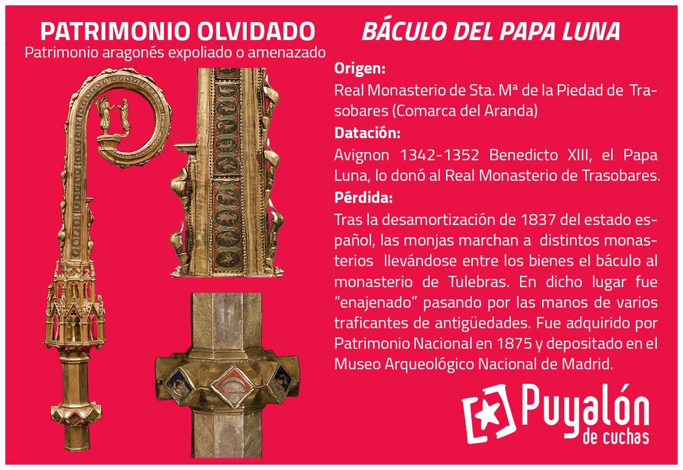 patrimonio expoliado Báculo del Papa Luna Benedicto XIII