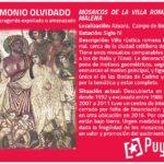 Mosaicos de La Malena patrimonio amenazado
