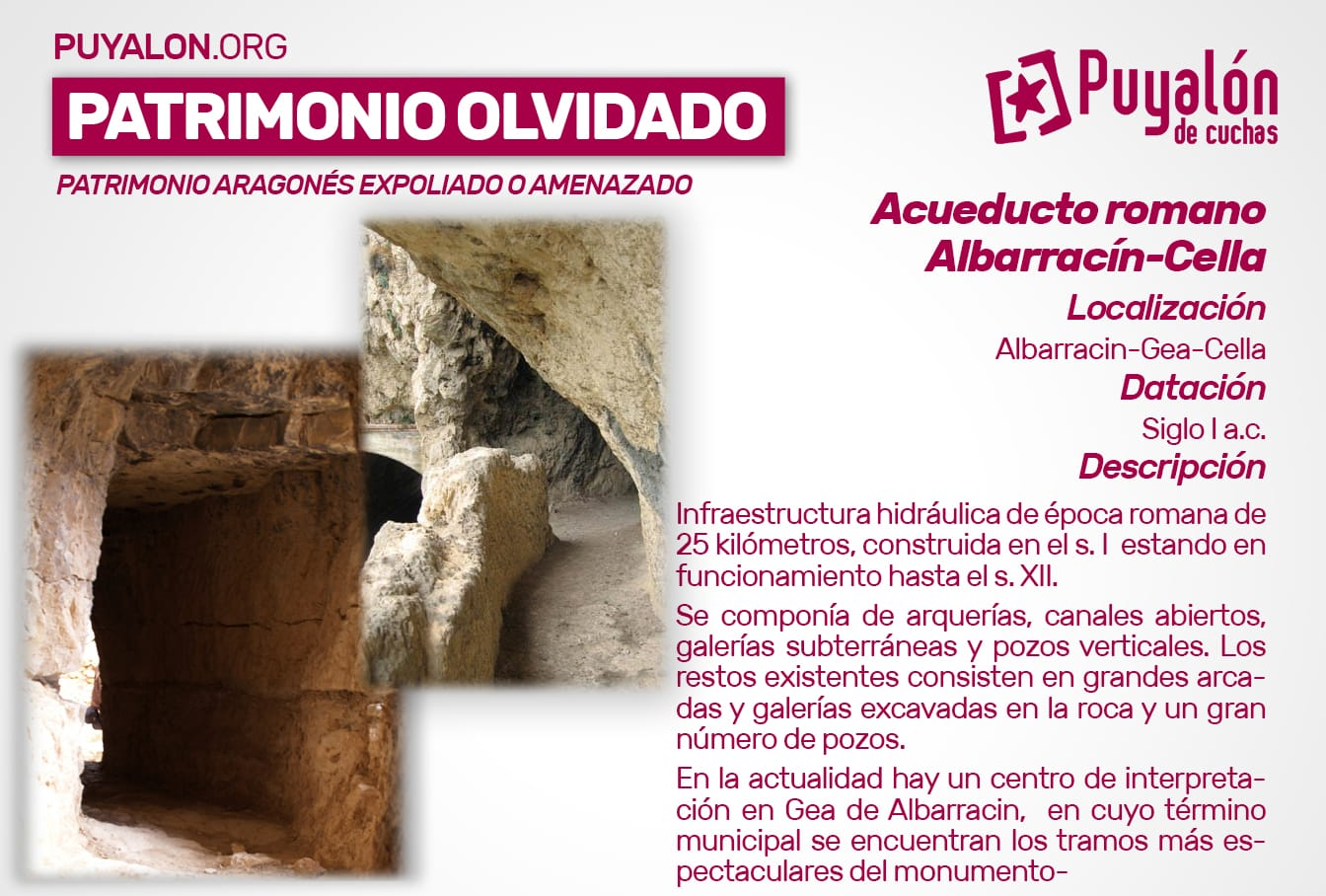 Acueducto romano Albarracín Cella